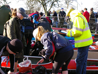 Checking kit at Devizes – Keith Bennett